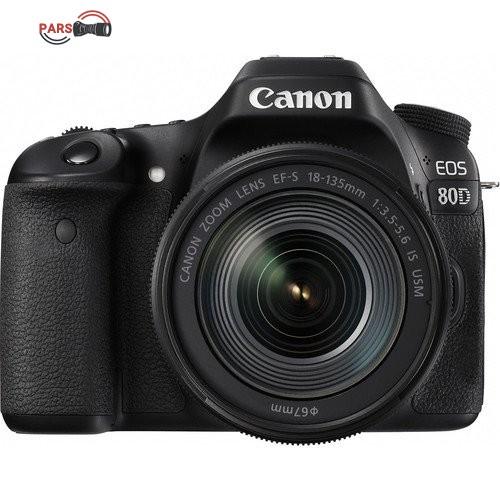 دوربین عکاسی کانن مدل Eos 80D EF S به همراه لنز 18-135 میلی متر