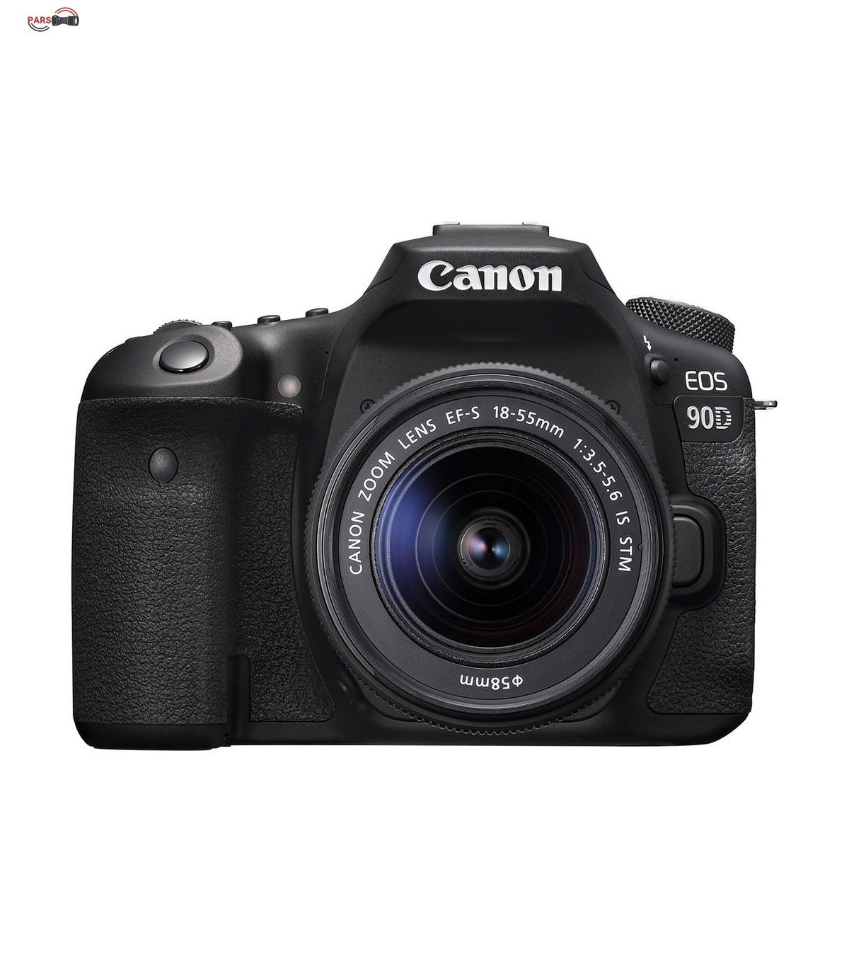 دوربین عکاسی کانن مدل EOS 90D لنز 55-18 میلی متر IS USM