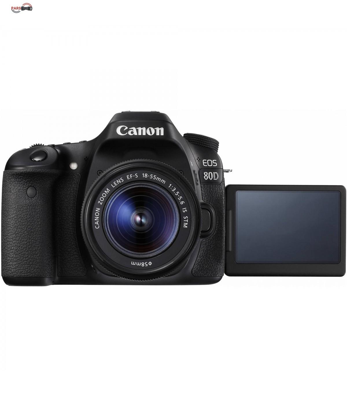 دوربین عکاسی کانن مدل Eos 80D به همراه لنز 18-55mm