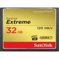 کارت حافظه CompactFlash سن دیسک مدل Extreme سرعت 120MBps ظرفیت 32 گیگابایت